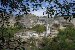 New temple in Svyato-Uspensky monastery Bakhchisaray Stock Photos