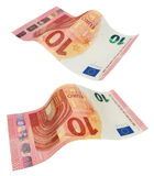 New ten euro banknote, isolated on white Stock Photography
