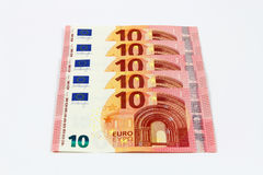 New ten euro banknotes front Stock Images