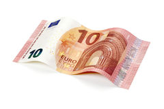 New ten euro bill isolated with clipping path Royalty Free Stock Images
