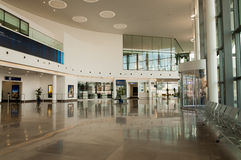 New Terminal Lobby. The Lobby area of the new International Airport Terminal in Gibraltar Stock Images