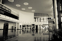 New Terminal Lobby. The Lobby area of the new International Airport Terminal in Gibraltar Stock Photo
