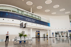New Terminal Lobby. The Lobby area of the new International Airport Terminal in Gibraltar Stock Photos