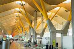 New Terminal of Madrid airport Stock Images