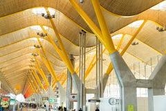 New Terminal of Madrid airport Stock Photos