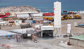 New terminals area under construction in Port Tanger-Med 2 Royalty Free Stock Images