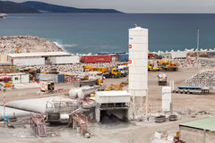 New terminals area under construction, Port Tanger-Med 2 Stock Images