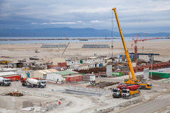 New terminals area under construction Royalty Free Stock Photography