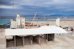 New terminals under construction in Port Tanger-Med 2 Stock Photo