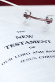 New Testament close up Royalty Free Stock Photography