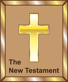 The New Testament Golden cross Stock Image