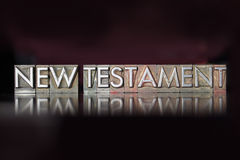 New Testament Letterpress Royalty Free Stock Images