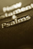 New Testament and Psalms book Royalty Free Stock Photos