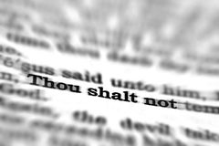 New Testament Scripture Quote Thou Shalt Not Royalty Free Stock Images