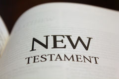 New Testament. Text on white Royalty Free Stock Image