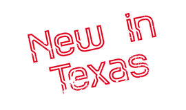 New In Texas rubber stamp Stock Image