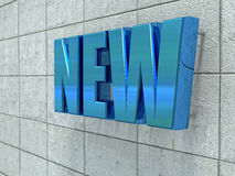 New text on cement wall Royalty Free Stock Images