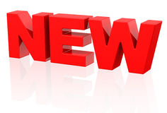 New text. 3d generated picture of the word new royalty free illustration