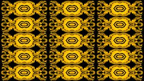 New thai art pattern style on black Royalty Free Stock Photography
