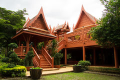 New Thai  house. Thai traditional style house with a new material such as reinforce concrete Stock Image