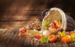 New Thanksgiving card creation for fall and autumn concepts. royalty free stock images