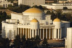 New theatre in Ashkhabad. Turkmenistan.  stock images