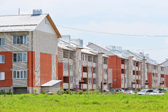 New three-storey brick apartment houses Royalty Free Stock Photography