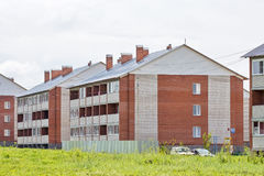 New three-storey brick apartment houses Stock Image
