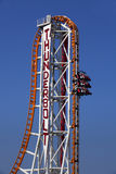 New ThunderBolt Steel Roller Coaster Royalty Free Stock Image