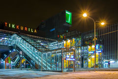 New Tikkurila railway station in Vantaa, Finland. VANTAA, FINLAND - FEBRUARY 14, 2015. New railway station in Tikkurila, Finland, opened in January 2015 Royalty Free Stock Photos
