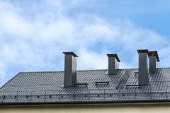 New tiled roof Stock Image
