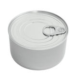 New Tin Can Lid, Food Preserve Ringpull Canister Copy Space, Sealed Top, Isolated Macro Closeup Stock Photography