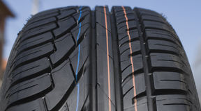 New tire. New michelin tire for summer Royalty Free Stock Images