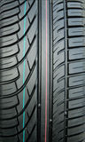 New tire tread. With visible markings Royalty Free Stock Photos