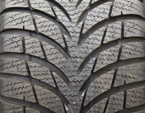 New tire treads. Textured background Stock Photo