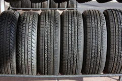 New Tires On Display Royalty Free Stock Image