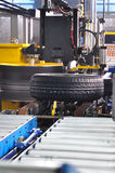 A new tires in the production process Royalty Free Stock Photography