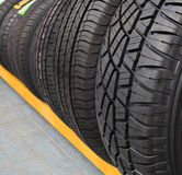 New tires for sale at a tire store Stock Photography