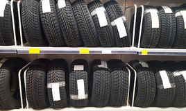 New tires at shop Stock Photos