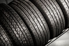 New Tires Stack royalty free stock photo