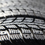 New tires stacked Stock Image
