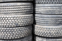 New Tires in Storage Royalty Free Stock Photos