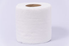 New tissue paper roll isolated on white background. Isolated of a new clean roll of tissue paper on white background Royalty Free Stock Photography