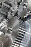New titanium and steel gears. Industry gears and wheels, titanium and steel and in its natural colors Stock Photo
