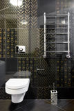 New toilet room in black colors Stock Image