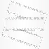 New torn paper sheet label. Stock Photography