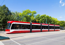 New Toronto Street Cars Royalty Free Stock Image