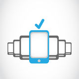 New touch screen cellphones Royalty Free Stock Photography
