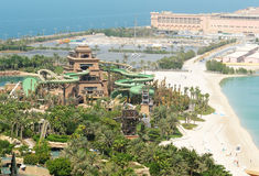 The new Tower of Poseidon in Aquaventure waterpark of Atlantis the Palm hotel Stock Photo
