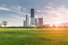New town in construction Stock Photography